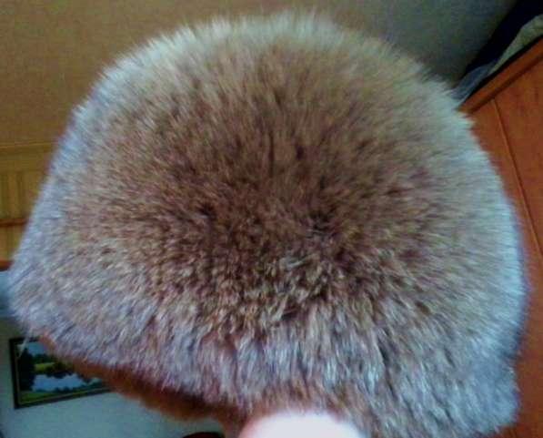 Зимняя женская шапка из песца