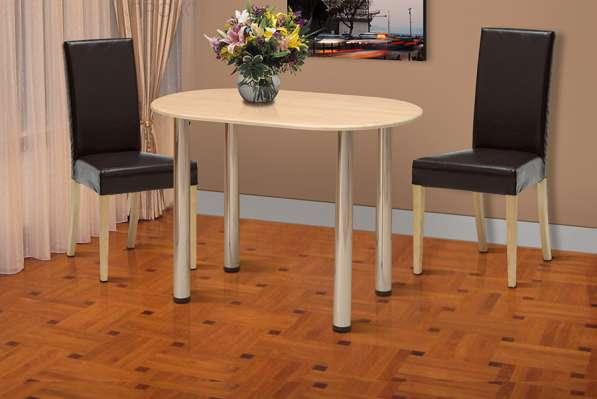 Стол обеденный овальный 1000*600 мм