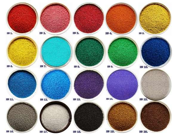 Цветной песок для столиков (6 цветов)
