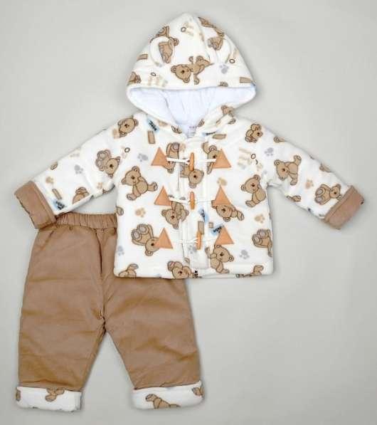 Новый велюровый костюм мишки мальчику 1-2 лет куртка брюки