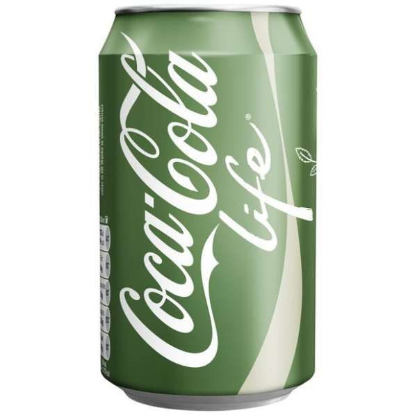 Coca-Cola Life (Кока-Кола Лайф, США) в жестяной банке, 0.355