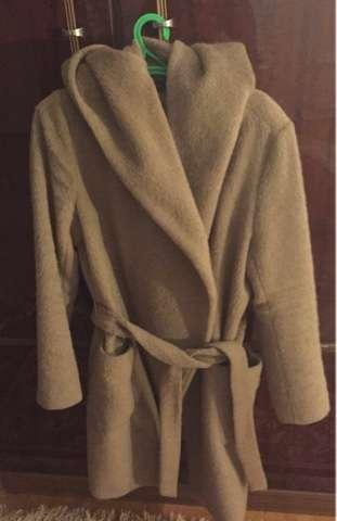 пальто авто леди песочного цвета с капюшоном