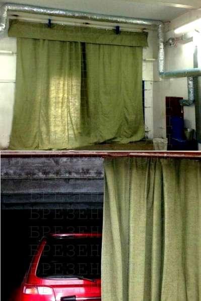 Брезентовая штора в гаражные ворота