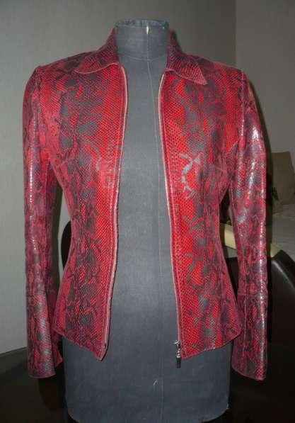 Натуральная кожаная женская куртка