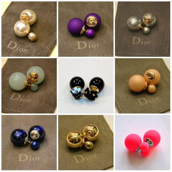 Серьги шарики пусеты (пуссеты) Dior