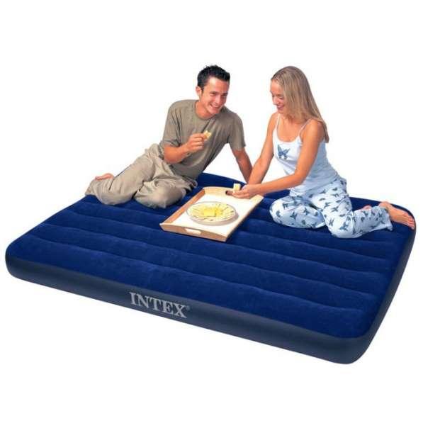 Новый матрас надувной для сна Intex 152х203х22 см