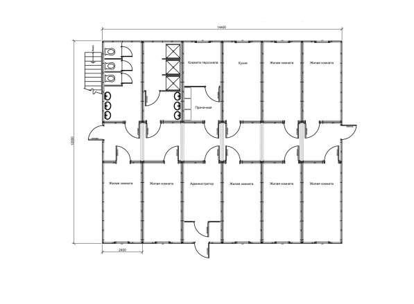Модульный хостел на 7 номеров