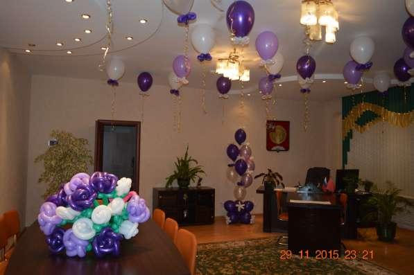 Украшение воздушными шарами, гелиевые шары