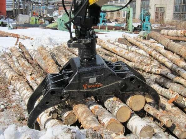 Захват для бревен - Грейфер для леса, для бревен, пиломатери