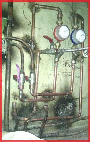 Установка счётчиков воды. Ремонт медных водопроводов. в Красноярске фото 7