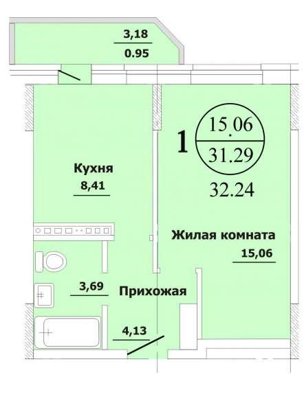 1-к квартира по выгодной цене