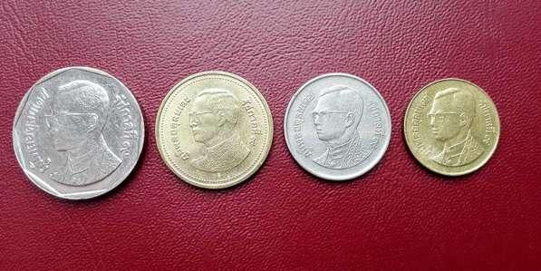 Монеты Таиланда, без повторов: 50 сатангов, 1, 2 и 5 бат
