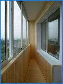 Остекление лоджий и балконов, пластиковые окна.