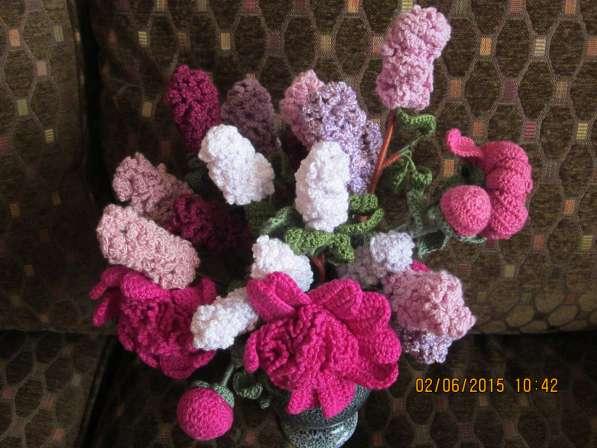 Вязаные цветы Ручная работа