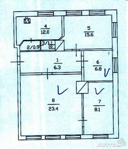 Продаю 4-к квартира, 74 м², 2/2 эт.