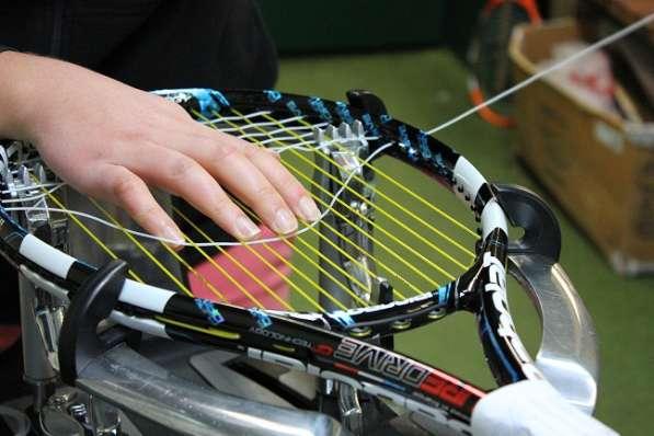 Услуги теннисного стрингера ( перетяжка теннисных ракеток ).