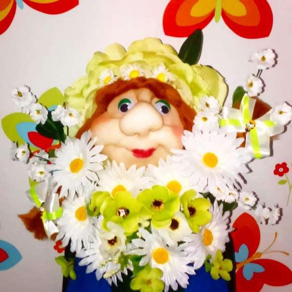 Топиарий-дерево счастья.Мордочки-цветочки