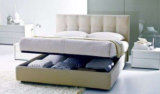 Кровать с подъемным механизмом кожаная