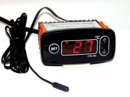 Терморегулятор цифровой СТЕ-102 для омшаников, погребов