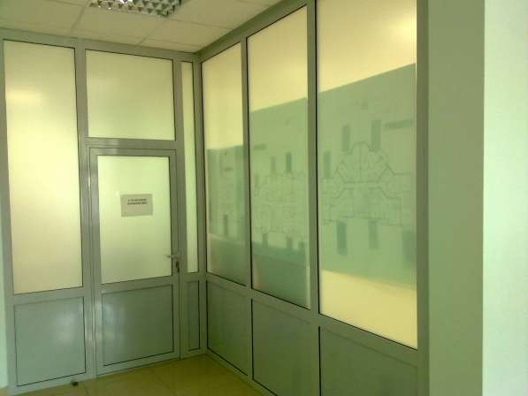 Стеклянные перегородки офисные, мобильная перегородка в Екатеринбурге фото 12
