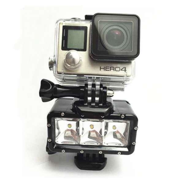 Фонарь для GoPro светодиодный водонепроницаемый