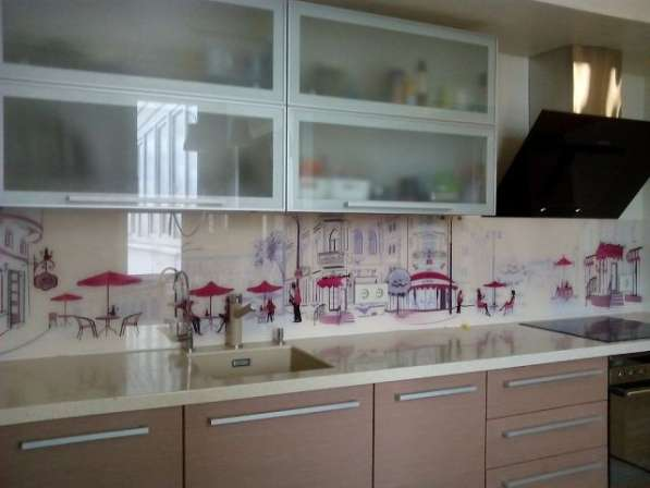 Фартуки для кухни из закаленного стекла