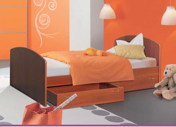 Кровать с ящиками 900 мм