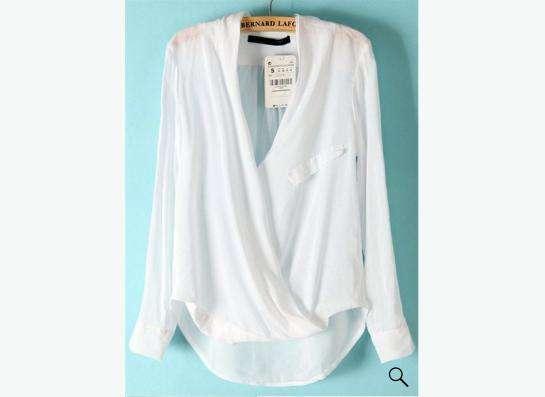 блузка белая, вискоза
