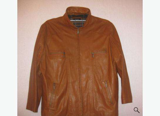 Кожаная куртка новая, р-р 60-62