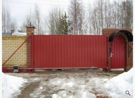 Ворота откатные в Новосибирске фото 3