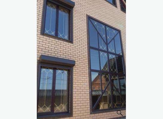 окна с витражами и фаьшпереплетами в Оренбурге фото 3