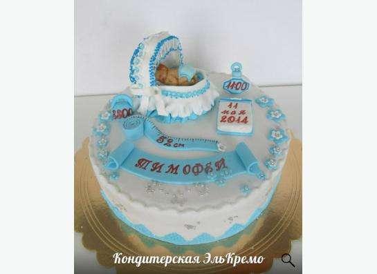 Торты на заказ детские и свадебные в Новосибирске