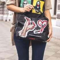 Сумка с ручной росписью #девочкитакиедевочки, в Москве