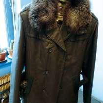 Куртка Kendela осенне-зимняя, воротник - чернобурка, в Мытищи