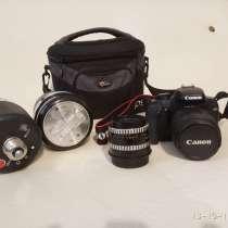 Продам зеркальный фотоаппарат CANON EOS 1000D kit + комплект, в г.Евпатория
