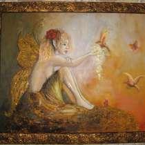 Интерьерная картина Лесная фея (живопись масло), в г.Москва
