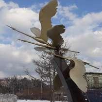 """Скульптурная композиция """"Взлет журавлей"""", в Краснодаре"""