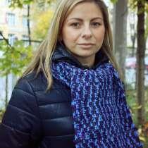 Шарф Снуд вязаный (unisex). В оттенках глубокого синего, в Санкт-Петербурге