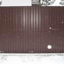 Ворота откатные 4000*2000 мм, в Санкт-Петербурге