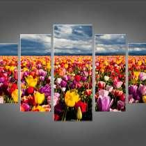 """Модульная картина """"Бескрайнее поле цветов"""" , в Тольятти"""