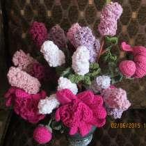 Вязаные цветы Ручная работа, в Москве