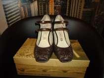 Туфли коричневые натурал. кожа р.35-36, в Новосибирске