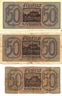 Оккупационные 50 марок VG, в г.Барановичи