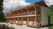 Каркасная гостиница под ключ, в Анапе