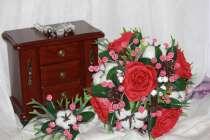 Свадебный зимний букет ручной работы, в Орехово-Зуево