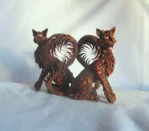 Кошки из полимерной глины, в Сургуте