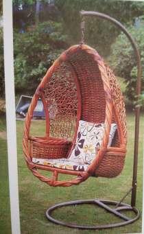 Подвесное кресло из натурального ротанга, в Москве