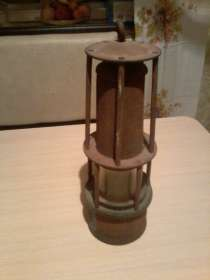 Лампа шахтёрская 1952 года, СССР, в г.Глазов