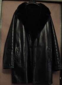 Мужское кожаное пальто на меху Б/У, в Подольске