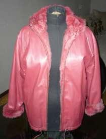 Натуральная кожаная куртка с натуральным мехом внутри, в Шадринске